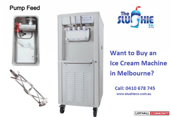 Want to Buy an Ice Cream Machine in Melbourne?