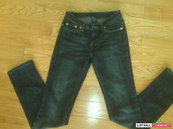 R&R Straight Leg Jeans sz 26 (fit like 24) $50