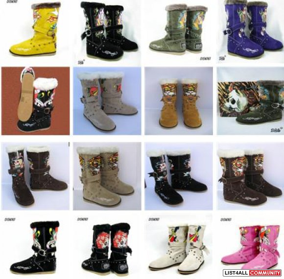 Wholesale Sheepskin Winter Women's and Kid's Snow Warm Boots
