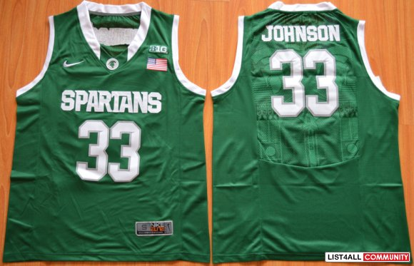 Christmas Gift:Michigan State Spartans Magic Johnson 33 College Basket