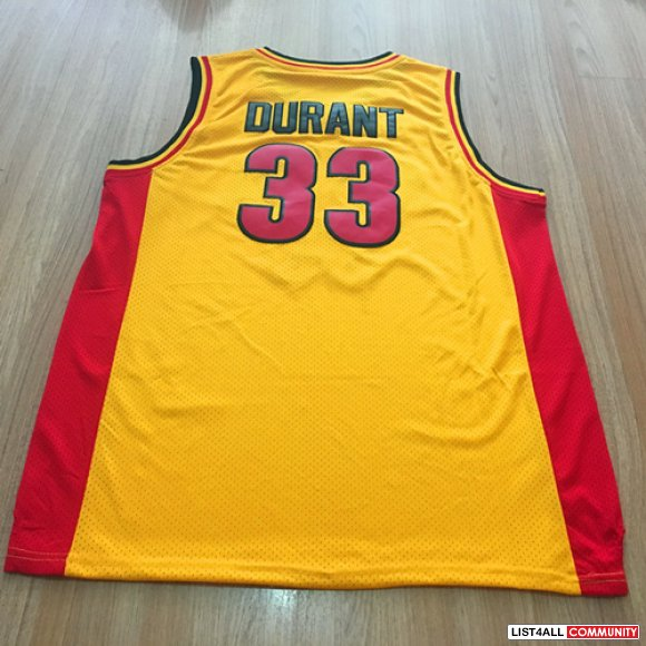 33 Kevin Durant Jerseys Oak Hill High School Men's Stitched Basketball