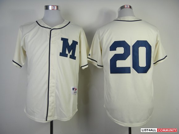 Milwaukee Brewers 20 Authentic Jonathan Lucroy 1948 Turn Back The Cloc
