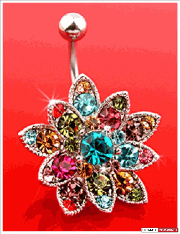 Swarovski Crystals Belly Button Ring Bwnot Amazingclothes List4all