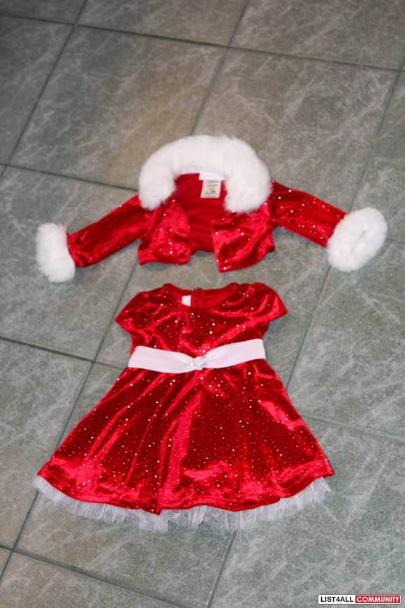 red christmas dress and jacket 12 months - 12 Month Christmas Dress