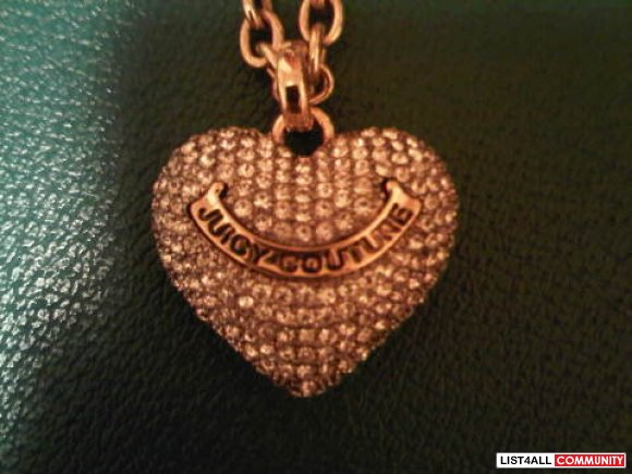 Juicy Couture Puffed Heart Necklace