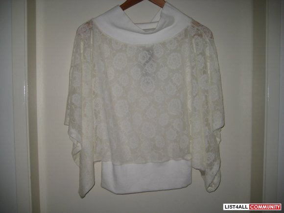 OOFY - White Lace Top - BNWT