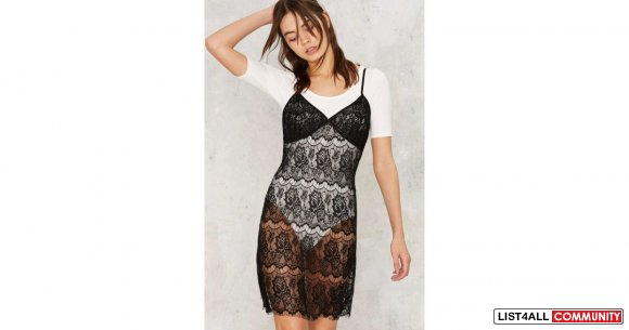 Nasty Gal Delicate Lace Dress