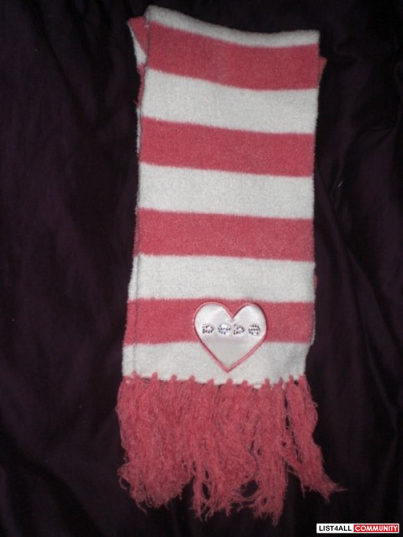 Bebe Scarf w/ Red & White Stripes
