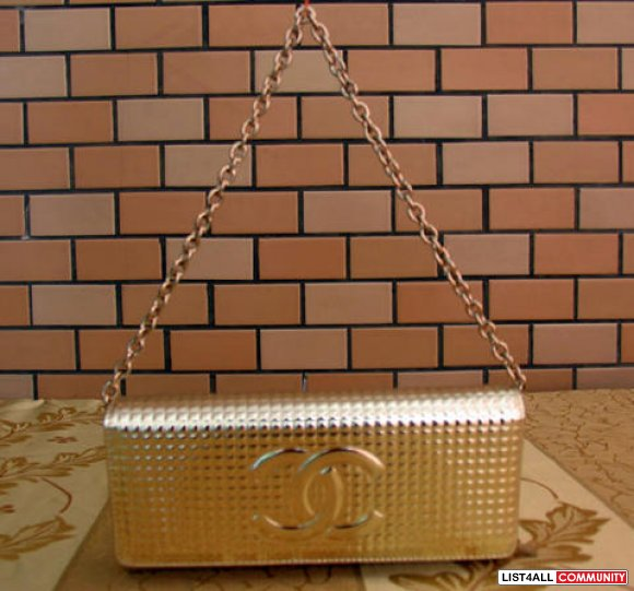 Small Gold Chanel Clutch/Bag