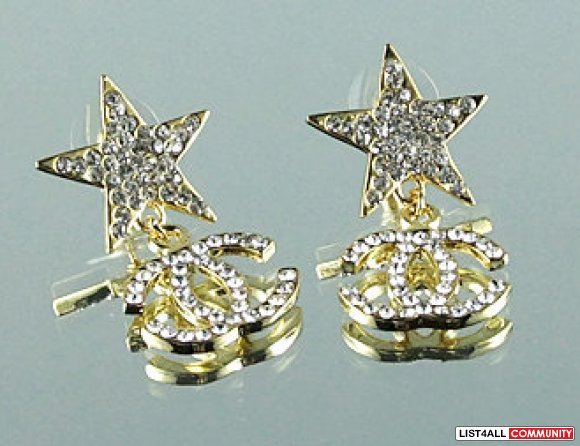 Chanel Gold Star Earrings