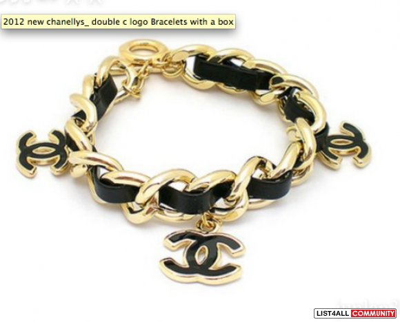 Black And Gold Or Silver Chanel Bracelet