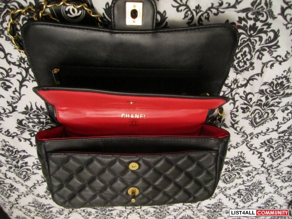 Black Chanel Quilted Flap Bag
