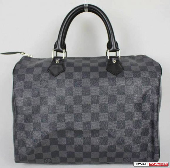 LV Black Damier Speedy 30