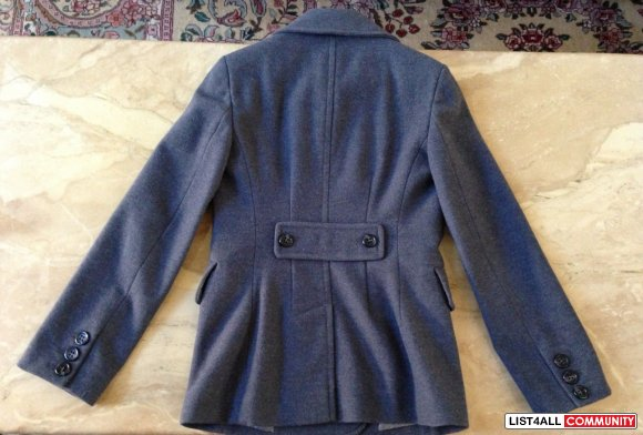 BCBG Double Breasted Wool Coat