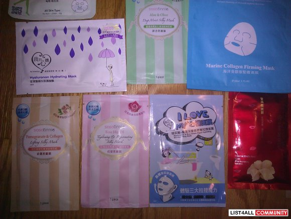 FACIAL MASKS FOR SALE FROM HK :)