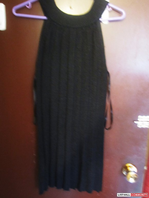 Black crew neck dress- SALE