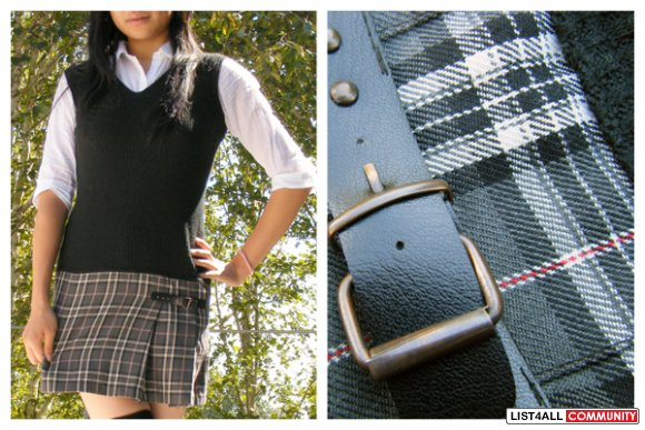 One Piece School Girl Style Vest and Skirt