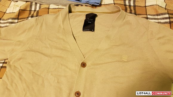 G Star Raw Cardigan Large - Khaki