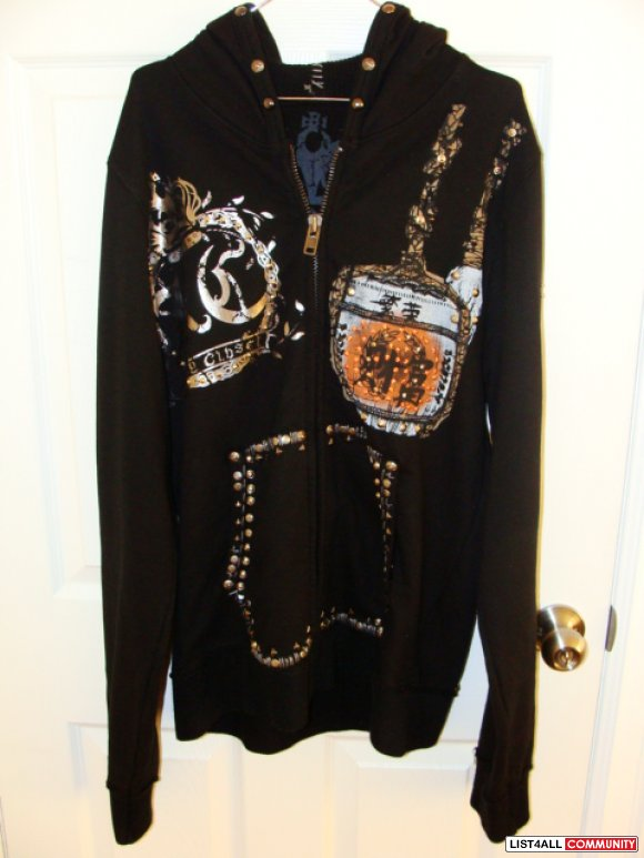 Brand New Key Closet Nailhead Hoodie In 39 Buffalo Skull