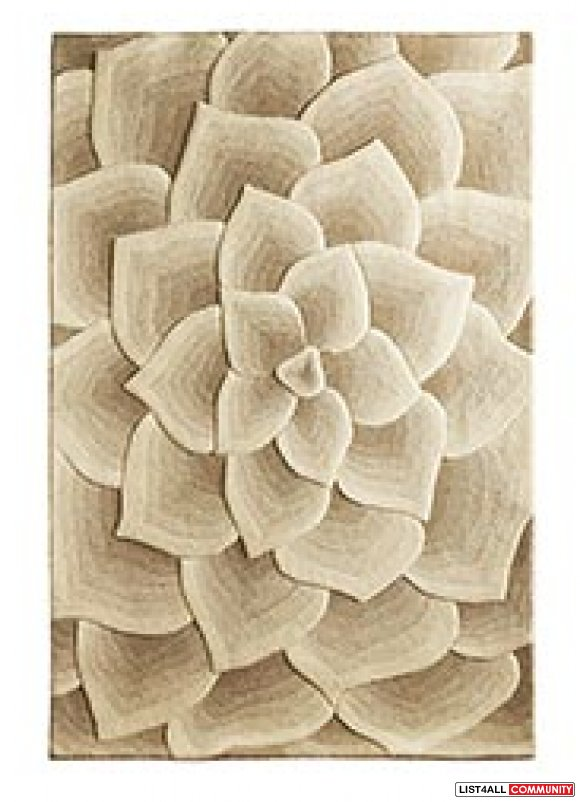 Ivory Wool Rose Rug From Pier 1 Imports Amovingsale
