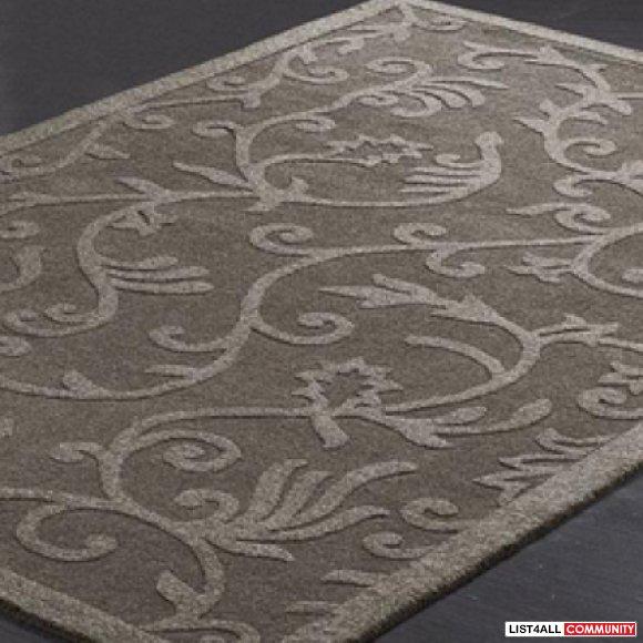"Sears Area Rugs 5x8: Whole Home ""Lauren"" Grey Wool Area Rug :: Amovingsale"