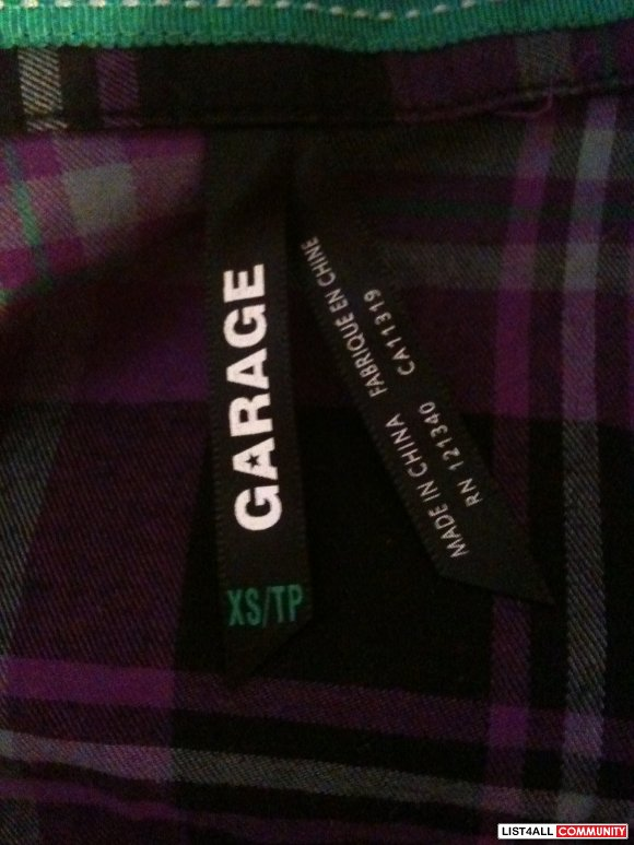 GARAGE plaid shirt XS