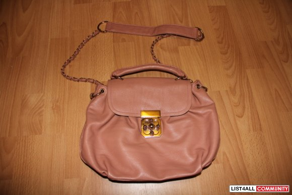 Rose Pink Turnlock Bag- Leather