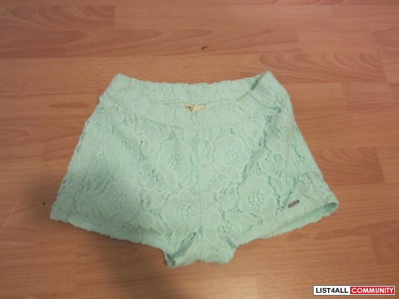 Mint Hollister Lace Shorts