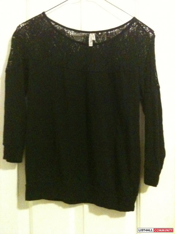 F21 LACE LONG SLEEVE $10