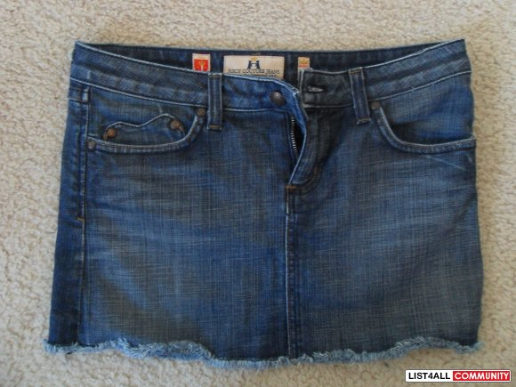 $30.00 Juicy Jean Skirt  SZ: 26 -w/ Heart Pockets