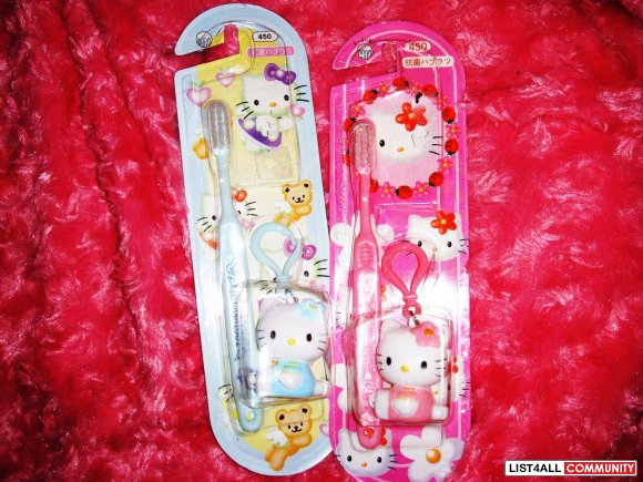Hello Kitty ToothBrushes (PINK&BLUE) 2 FOR $5
