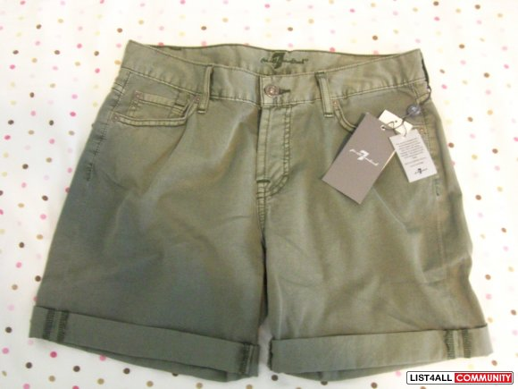 SEVEN FOR ALL MANKIND shorts 26 (BNWT)