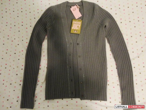 JUICY COUTURE wool/cashmere cardigan size P (BNWT)