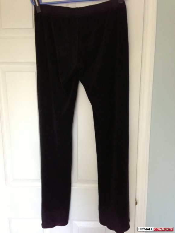 JUICY COUTURE black terry pants size S