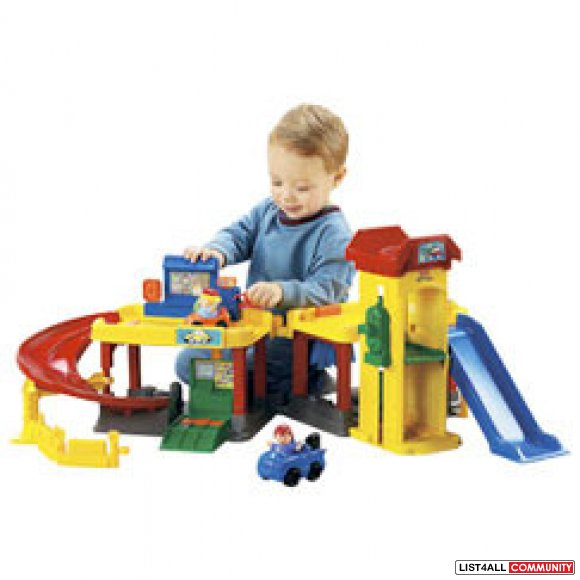 Fisher Price - Little People - Ramps Around Garage