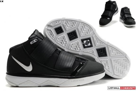 hot sell Nike Zoom Soldier 3 Lebron Men Black White Red Sz 8-12