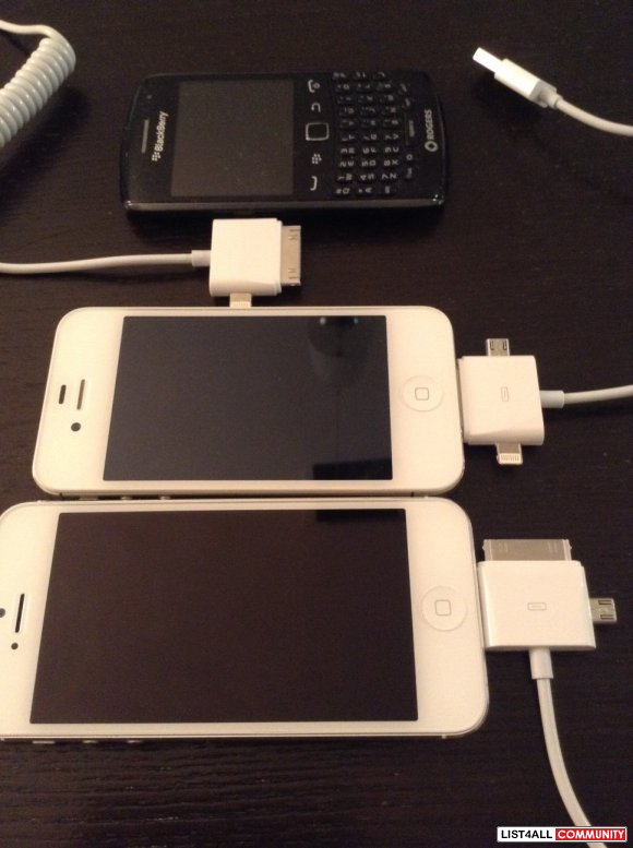Multi Head Adapter for IPhone 4/4S - IPhone 5/5S - Micro USB Android P