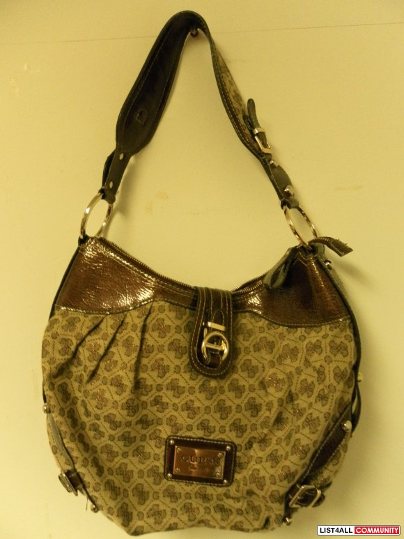 Brown Guess Shoulder Bag