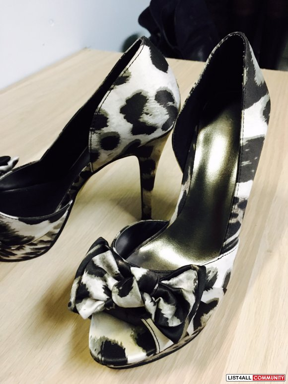 Size7 ALDO Patterned open-toe pump (Worn once)