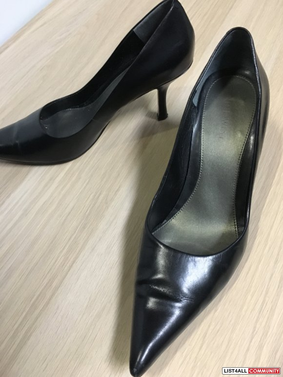 Size7 NINE WEST Black pointy low-heel