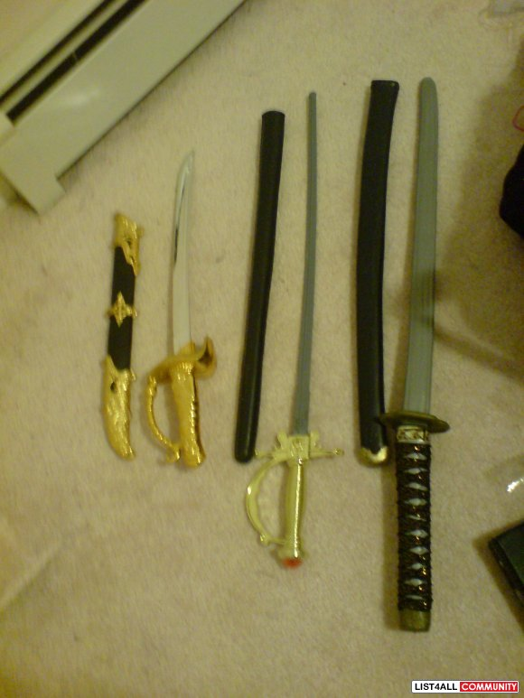 Plastic Toy Swords With Sheaths 48 Cm And 77 5 Cm Rawr