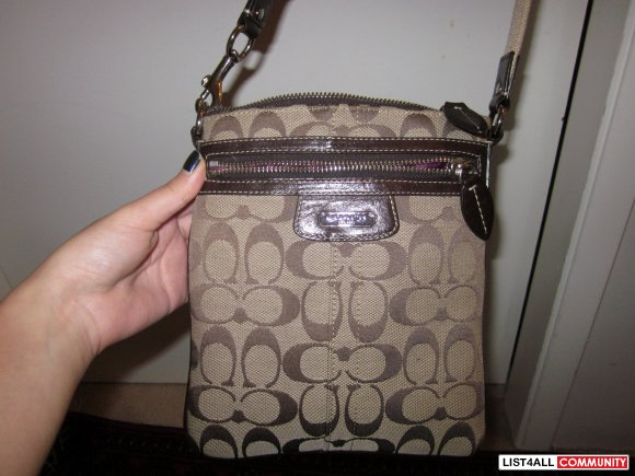 Authentic  Coach Sling Over Purse
