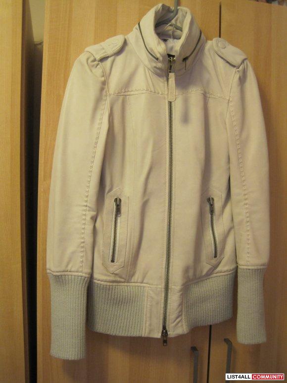 Mackage Leather Jacket , Long version White - Size XS :: sweet