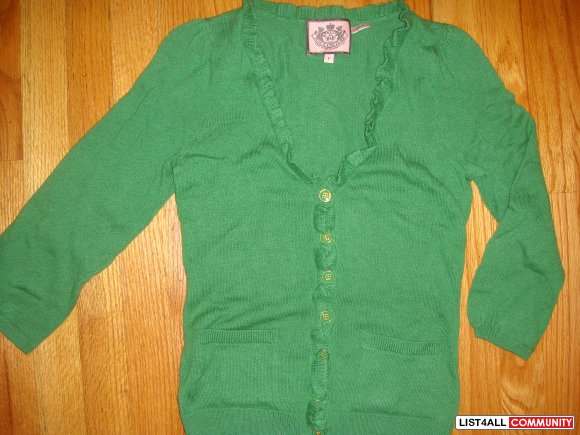 New JUICY couture cardigan size xs