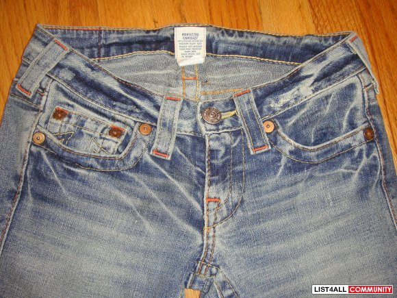 New TRUE RELIGION jeans size 25