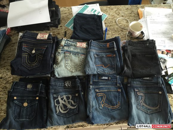 Rock & Republic, True Religion, 7 for all Mankind, J brand - JEANS SIZ