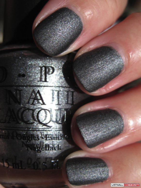 OPI Nail Polish - Suzi Skis In The Pyrenees SUEDE!!