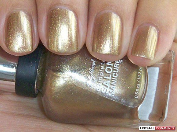 Bn Sally Hansen Metallic Gold Nail Polish Gilty Treasure
