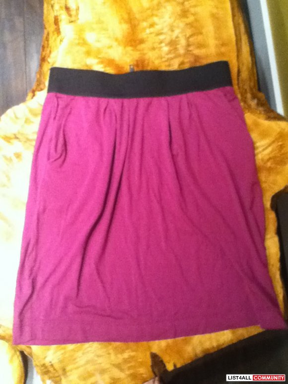 BNWT Plenty Magenta Purple Pink High Waist Skirt (S)
