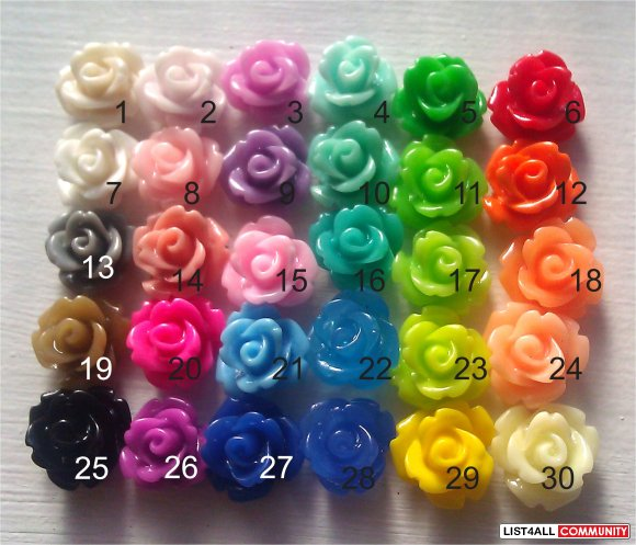 Peach Rose Earrings - 30 Colors To Choose From!